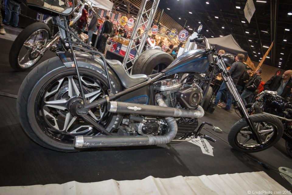 Chopper noire & bleue